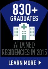 830+ RUSM Graduates Attained Residencies in 2015